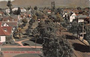 North Los Robles Ave., Pasadena, California, Early Postcard, Used in 1908