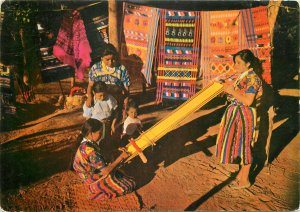 Ethnic native Indian weaver in Guatemala