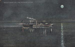 TUCK #5824; Night Steam Boat on the Hudson River, 00-10s