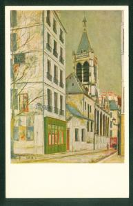 Church of Saint Severin by UTRILLO Oil Painting Art National Gallery DC Postcard