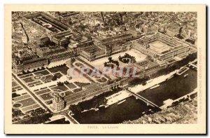 Old Postcard Paris Louvre