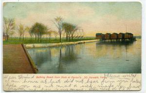 Bathing Beach from Dorlon's Dock South Norwalk Connecticut postcard