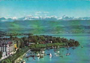 Switzerland Zurich See und Alpen 1958