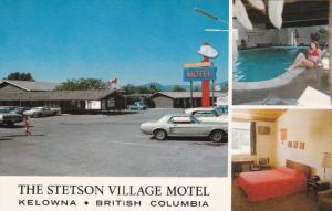 Ford Mustang car , Stetson Village Motel , KELOWNA , B.C. , Canada , 1960s