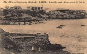 Afrique Occidentale Senegal Dakar Anse Bernard Casernes de la Pointe Postcard
