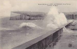 Sea Bluffs, Gros Temps, Falaises De Mers, Le Treport (Seine Maritime), France...