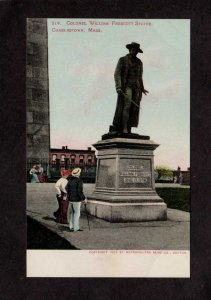 MA Colonel William Prescott Statue Charlestown Massachusetts Postcard UDB