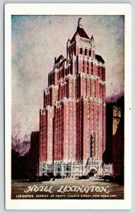 New York City~Hotel Lexington~Charles E Rochester President~Artist~1940s PC