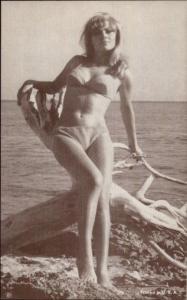 Bathing Beauty Sexy Pin Up Woman Arcade Mutoscope Card #8