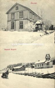 norway norge, ÅMOT AAMOT, Skolen, Kapel (1910s)