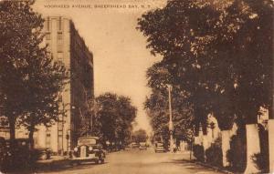 Sheepshead Bay New York Voorhees Avenue Street View Antique Postcard K97766