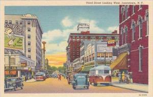 New York Jamestown Third Street Looking West