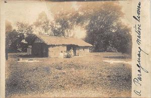 Paraguay South America Native House in 1911 RPPC Postcard