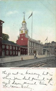 Independence Hall, Philadelphia, Pennsylvania, Early Postcard, Used in 1906