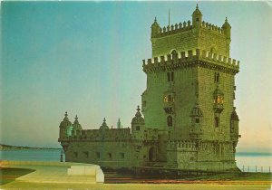 Postcard Portugal Lisboa belem tower architecture sea-side balcony bridge