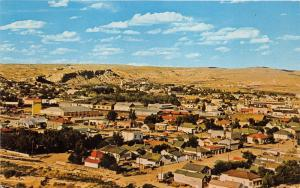 Rock Springs Wyoming Birds Eye View~Street-Houses-Buildings~Sweetwater County~Pc