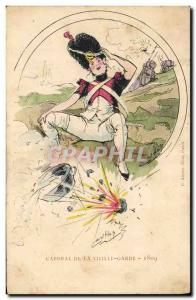 Old Postcard Fantasy Illustrator Corporal of the old guard in 1809 Militaria