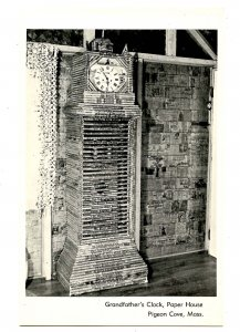 MA - Pigeon Cove. The Paper House, Grandfather's Clock