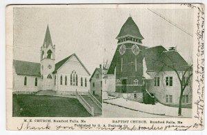 Rumford Falls, Me, M. E. Church - Baptist Church