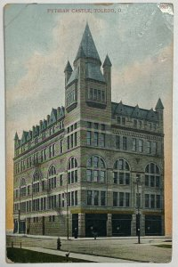 Old Divided Back Postcard Pythian Castle, Toledo, Ohio Posted Used 1911
