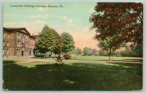 Easton Pennsylvania~Lafayette College Campus~View Across Large Lawn~c1910