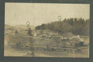 Moores Corner MASSACHUSETTS RP 1907 BIRDSEYE nr Greenfield Orange GHOST TOWN