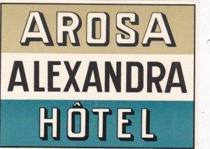 Switzerland Arosa Alexandra Hotel Vintage Luggage Label sk4214