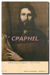 Old Postcard Joseph Ribera said the Espagnolel John of Procida Musee de Longc...