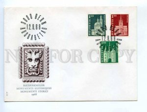 416864 Switzerland 1968 year First Day COVER historical monument FDC