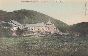 RONCESVALLES , Navarra , Spain , 00-10s ; Lugar de la Batalla de Carlo Magno