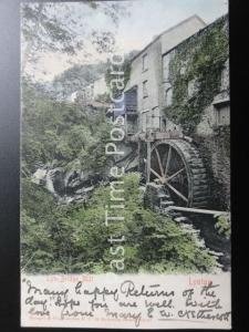 Devon LYNTON Lyn Bridge Mill & Water Wheel c1902 (PM) BIDEFORD DUPLEX by Stengel