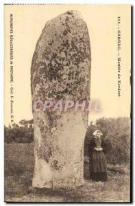 Old Postcard Dolmen Menhir Carnac Kerdert