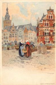 Netherlands Nijmegen chromo Postcard
