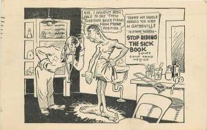 Artist impression 1934 Military Medic Comic Humor Postcard 4047