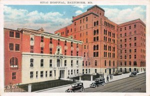 Sinai Hospital, Baltimore, Maryland, Early Postcard, Used in 1936