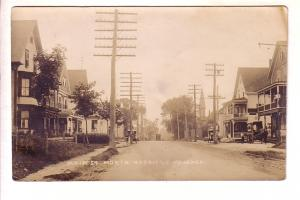 Real Photo, Main St, North Uxbridge, Massachusetts, Eastern Illustrating, Car...
