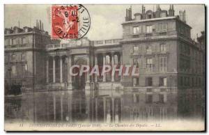Old Postcard Floods of Paris January 1910 The chamber of deputies