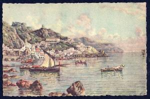 Amalfi Coast & Bay Italy by Carelli unused c1940's