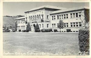 Eastern Oregon College La Grande OR Real Photo Postcard