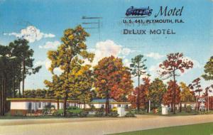 Plymouth Florida Carrs Motel Street View Antique Postcard K90248