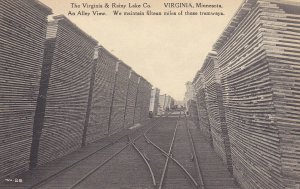 VIRGINIA , MN, 1920-30s; An Alley View, Tramways, Virginia & Rainy Lake Co.