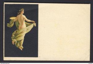 Nude woman green sheer wrap - # 38