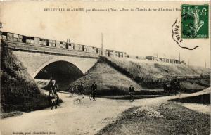 CPA BELLEVILLE-Blargies par ABANCOURT - Pont du Chemin de fer d'Amiens (259539)