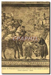 Postcard Old Francesco Assisi Dona Propria the jacket and a Ricco Caduto in p...