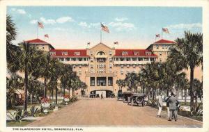 Seabreeze Florida Clarendon Hotel Street View Antique Postcard K73304