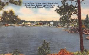 Coeur d'Alene Idaho Lake~City in Background~Sailboat~Pine Trees~Lackeys Drugs Pc