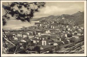 italy, VENTIMIGLIA, Panorama (1920s) RPPC