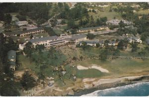 Aerial view of Del Monte Lodge, Shops & 18th Hole, Pebble Beach Golf Course, ...