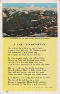 A Call to MONTANA Poem, Switchbacks on the Bed Lodge-Cooke City Highway, 10-20s