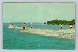 Kentucky Lake KY-Kentucky, Water Skiing, Chrome Postcard
